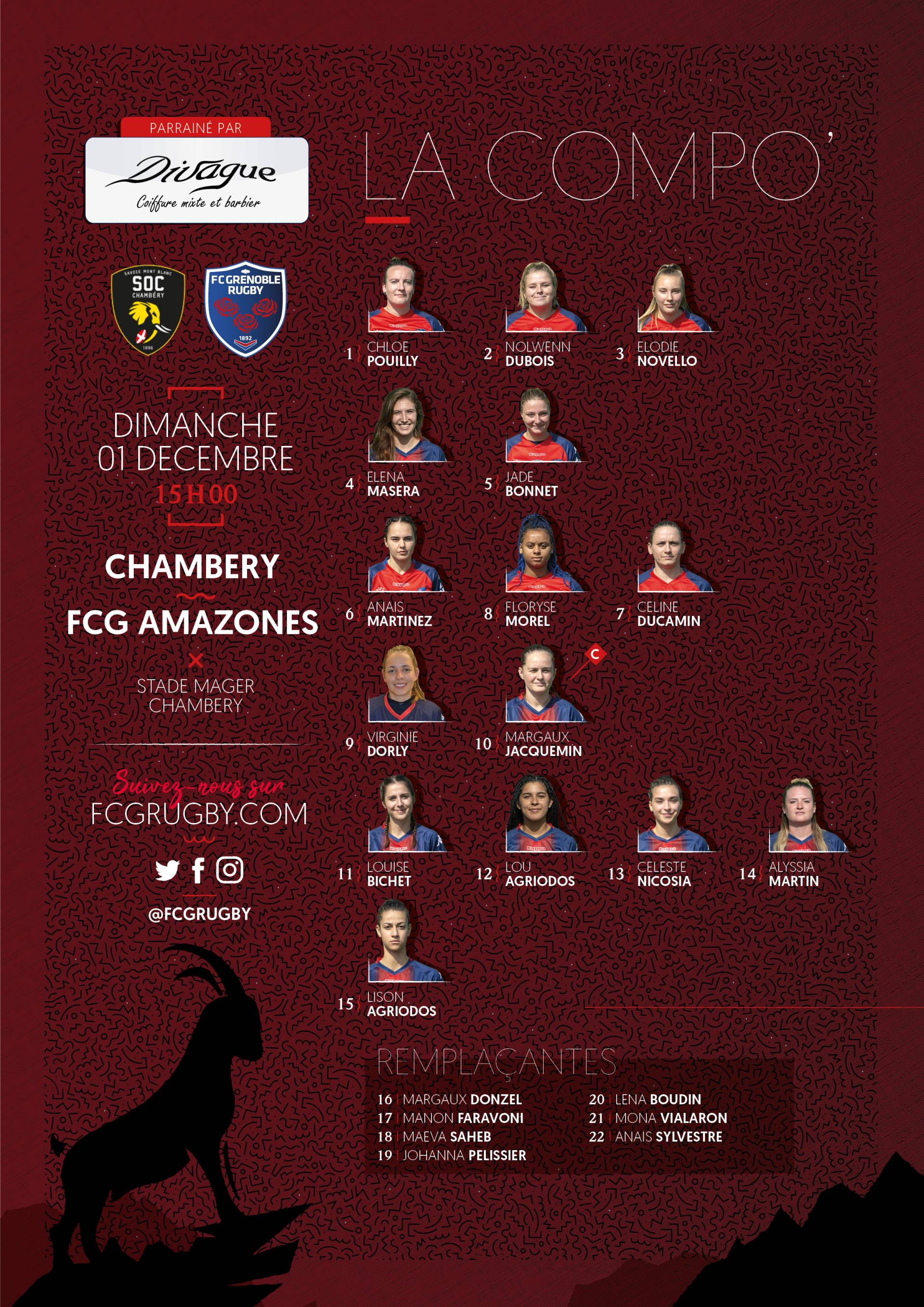 Anais Martinez fcg - fc grenoble rugby - the compo of the amazons fed.1 in